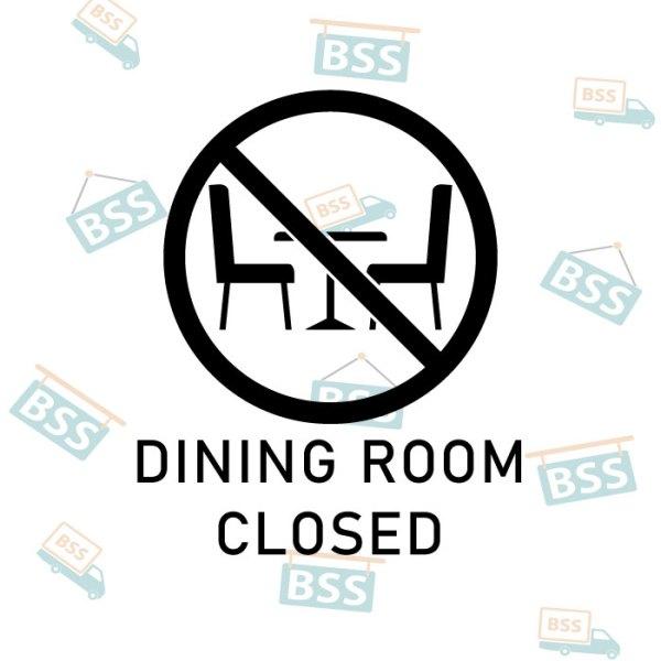 Diningroom-closed-sign-black