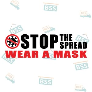 Stop-the-spread-wear-a-mask-Covid-19-Sign-black