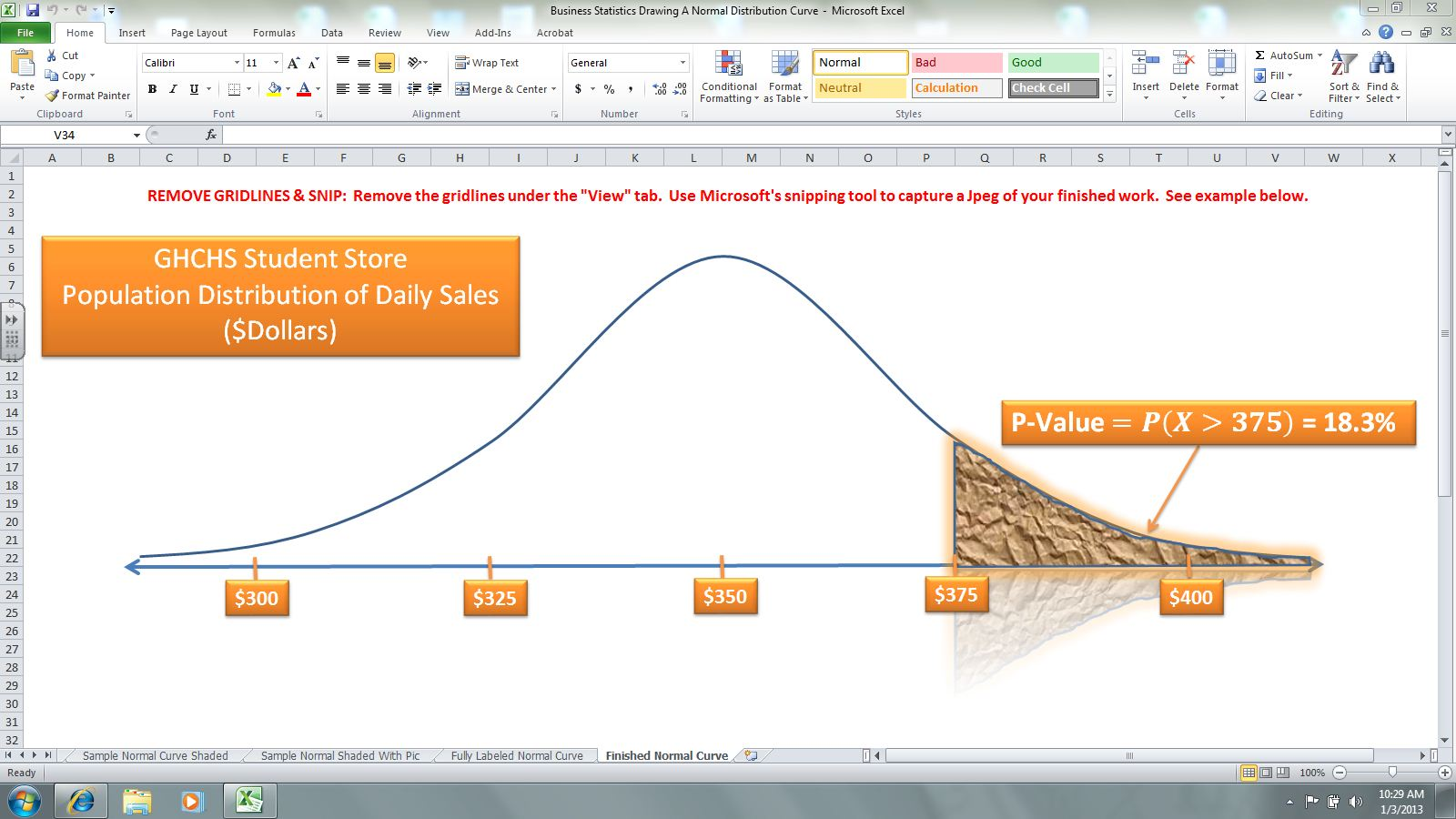 Project 5 Normal Probability Distributions