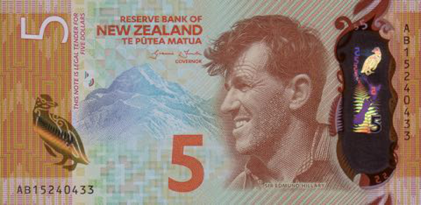 New Zealand note front