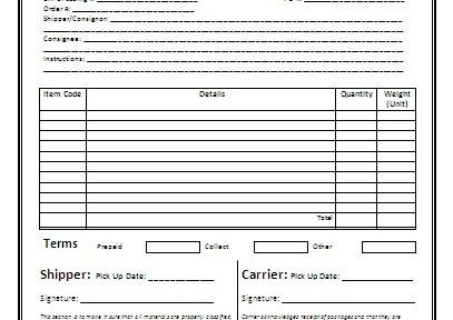 Bill Of Lading Yrc Freight | Sample Resume For Chief Nursing