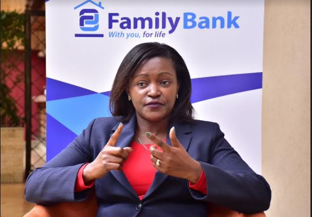 Family Bank Chief Executive Officer Rebecca Mbithi.