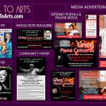 Business toArts - graphic design - media advertising modules for the classical concerts