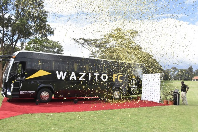Image result for RICARDO BADOER AND WAZITO FC PLAYERS