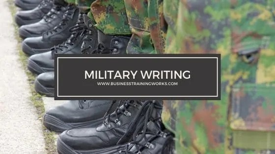 Military Writing Training