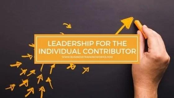 Leadership Training for Individual Contributors