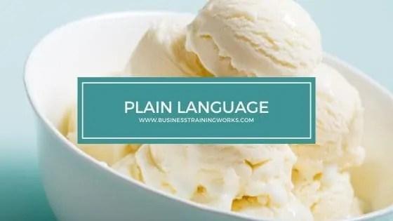 Plain Language Training