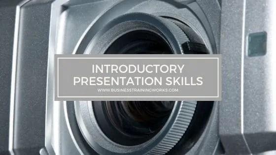 Introductory Presentation Skills Training