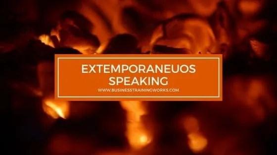 Extemporaneous Speaking Skills Training