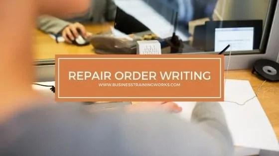 Repair Order Writing Training