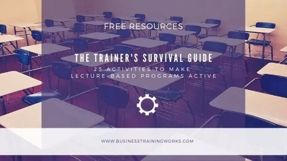 25 Activities to Make Lecture-Based Training Active