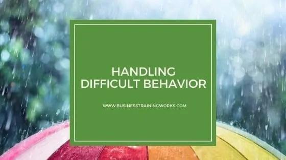 Online Course Addressing Employee Behavior