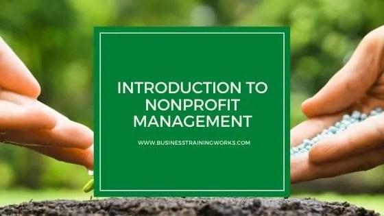 Online Course Introduction to Nonprofit Management