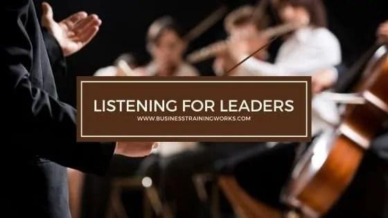 Listening for Leaders Training