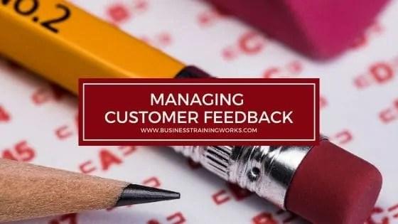 Managing Customer Service Feedback Training