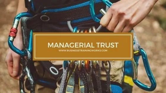 Managerial Trust Training