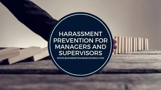Harassment Prevention Webinar for Managers