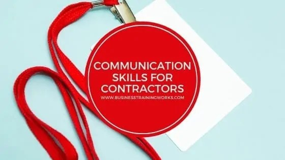 Communication Skills Training for Contractors