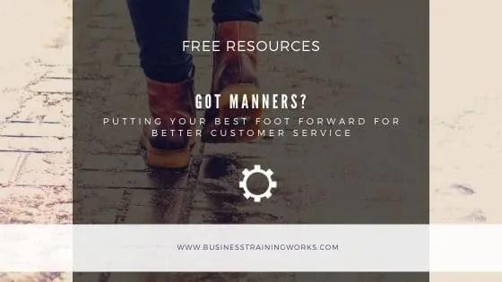 Customer Service Etiquette