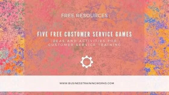 Five Free Customer Service Training Activities