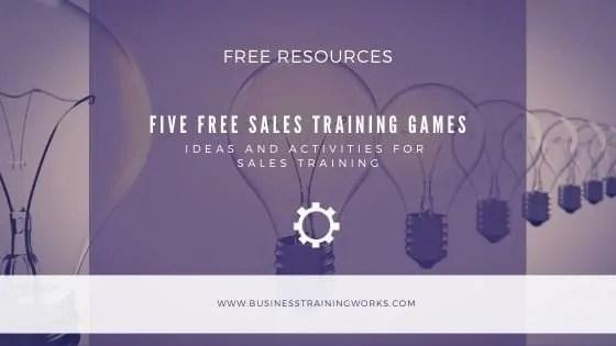 Five Free Sales Training Activities