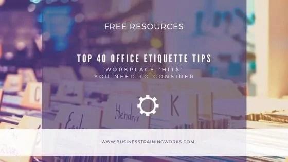 Office Etiquette Tips