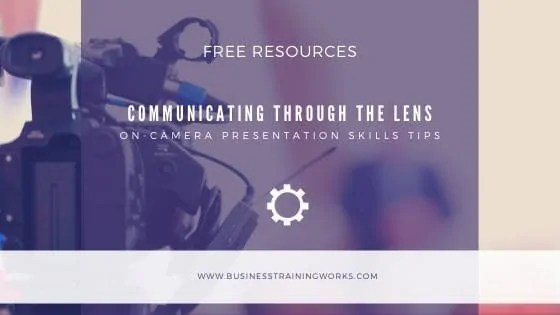 On-Camera Presentation Tips