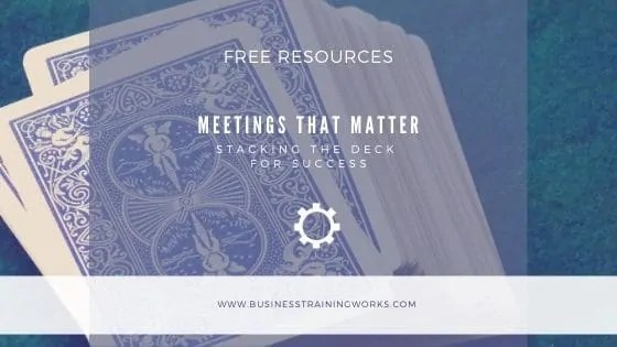 Running Better Meetings