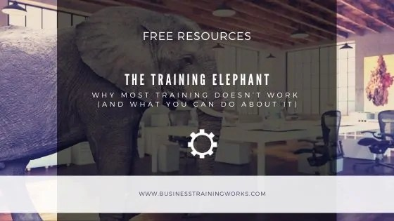 Why Training Doesn't Work