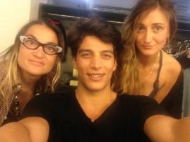 La make-up artist, Simone Susinna ed io.