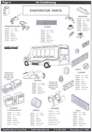 School Bus Air Conditioning Parts