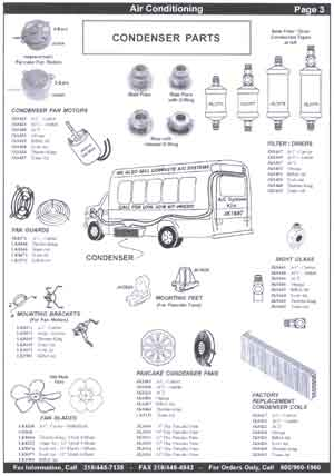 School Bus Air Conditioning Parts