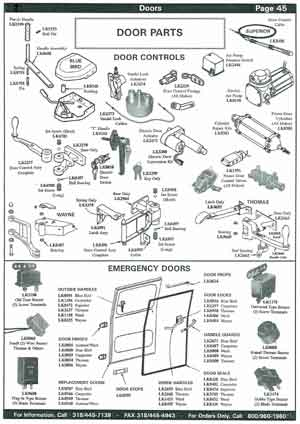 School Bus Emergency Door Parts