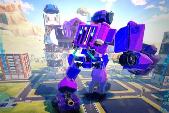 ロボットが巨大化した時の画面