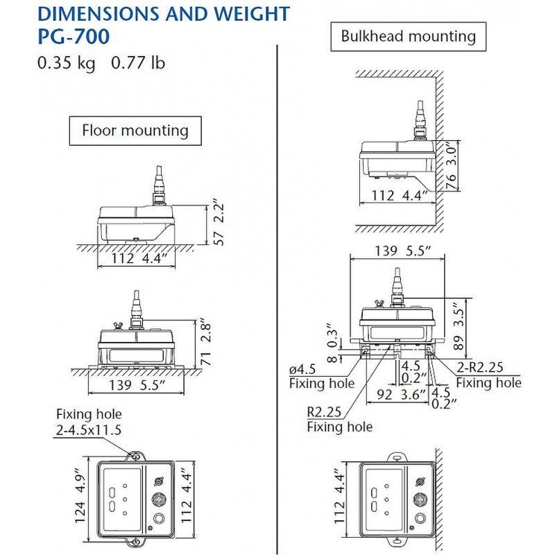 Furuno PG-700 Fluxgate Kompaß Sensor mit NMEA2000 Ausgang