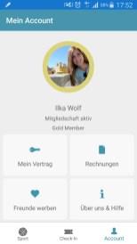 FITrate App: Vertragsübersicht