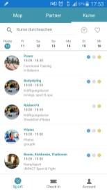 FITrate App: Auswahl an Kursen