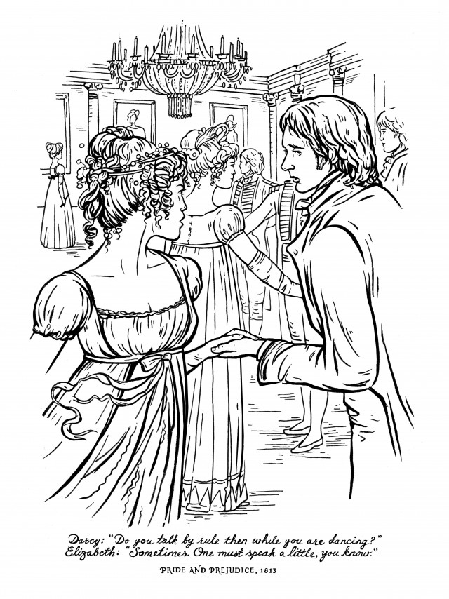 This Jane Austen Adult Coloring Book Lets You Doodle Mr. Darcy