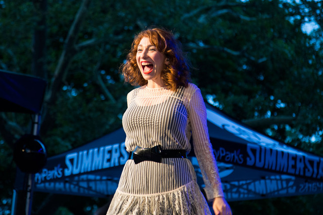 folding chair regina spektor lyrics best toddler for kitchen table plays central park 'on a perfect summer night