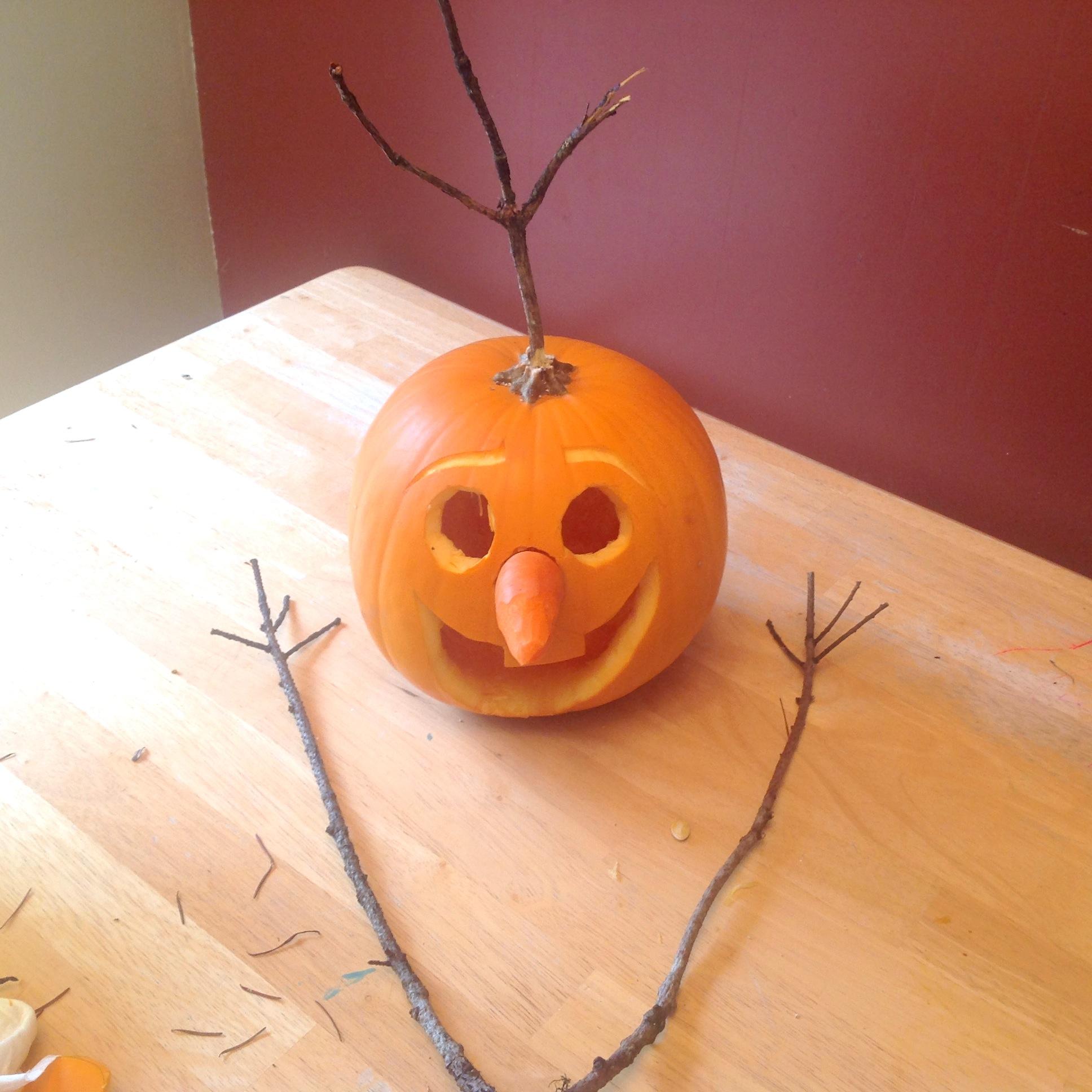 Do You Want To Build A Jack O Lantern Olaf Pumpkin