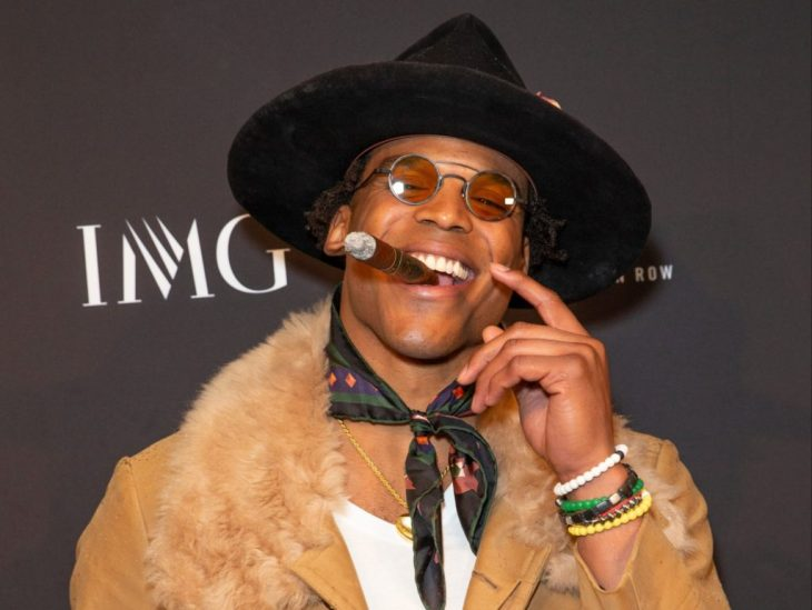 New York, NY - February 6, 2019: Cam Newton attends IMG and Harlem Fashion Row Host Next Of Kin: An Evening Honoring Ruth Carter at Spring Studios