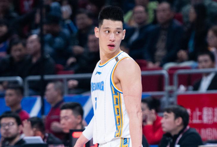 8 Nov, 2019 - Beijing, China: Former NBA player Jeremy Lin looks on during the game between Beijing Shougang Ducks v Shanghai Sharks.