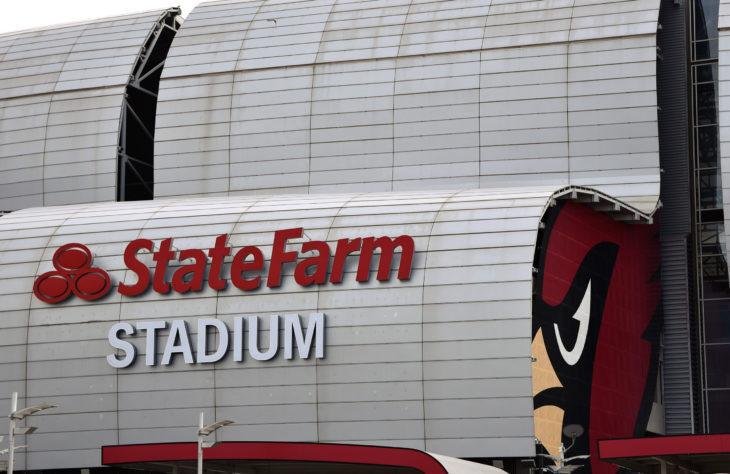 12/15/18 Glendale Arizona Sign at State Farm Stadium the home of the Arizona Cardinals Football team