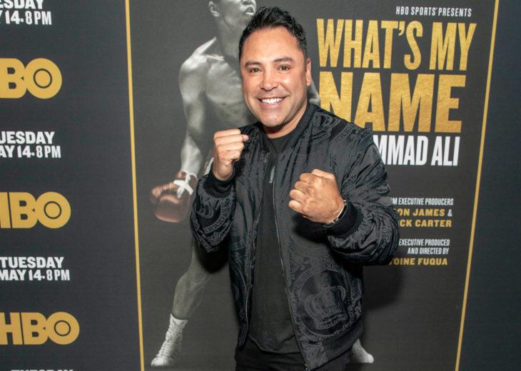 "Oscar De la Hoya attends HBO's ""What's My Name: Muhammad Ali"" Documentary Los Angeles Premiere - Arrivals at Regal Cinemas LA LIVE 14, Los Angeles, CA on May 8, 2019"