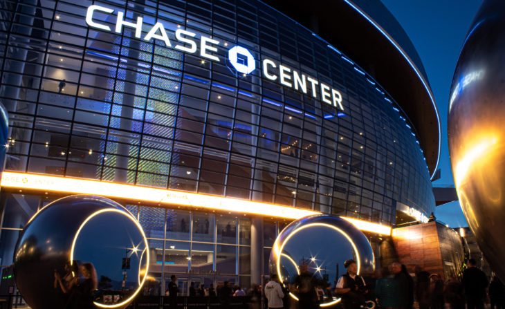 SAN FRANCISCO, CA - September 3, 2019: Chase Center Grand Opening