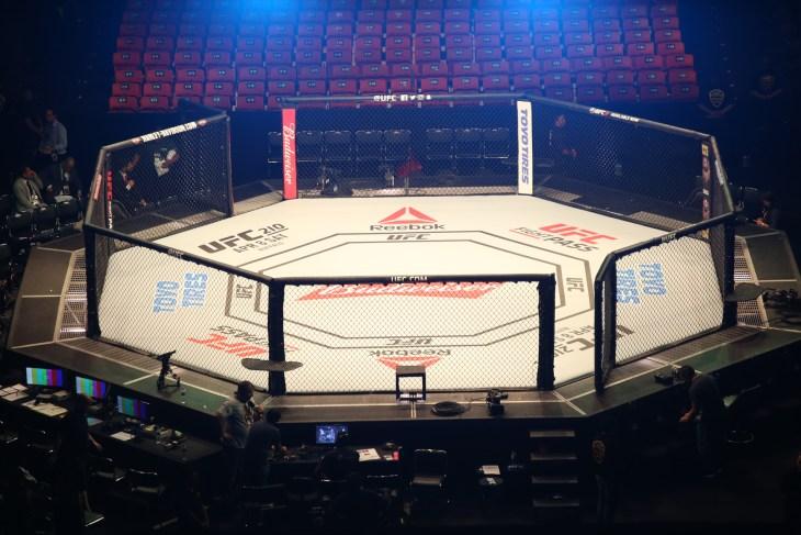 Fortaleza, Ceará, Brazil, march 11, 2017. UFC Fight Night: Belfort vs. Gastelum. Octagon, stadium gym