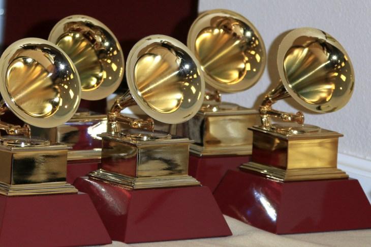 LAS VEGAS - NOV 19: Grammy Award Statues at the 16th Latin GRAMMY Awards at the MGM Grand Garden Arena on November 19, 2015 in Las Vegas, NV
