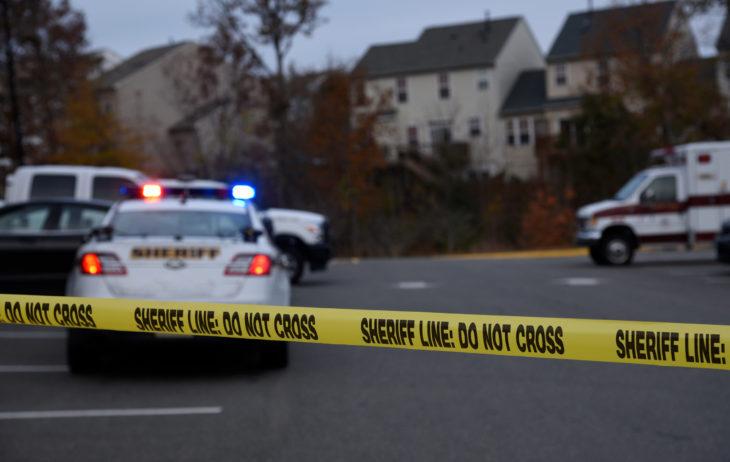 Crime Scene blocked off by law enforcement. Do not cross tape up marking the scene.