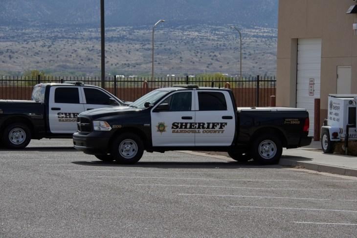 Rio Rancho, NM / USA 4-14-19: Sandoval County Sheriff Vehicle Rio Rancho New Mexico Dodge Ram Pickup