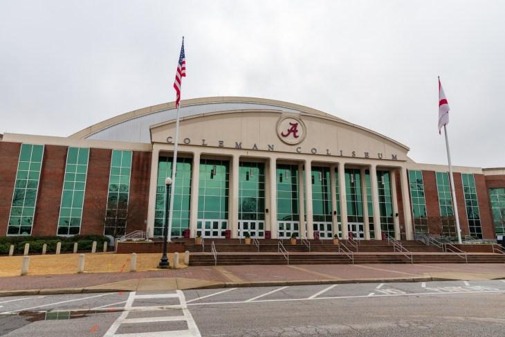 Tuscaloosa, AL / USA - December 29, 2019: Coleman Coliseum on the Campus of the University of Alabama